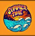 summer time landscape holiday vector image