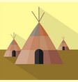 tipi icon set of great flat icons design vector image