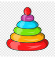 toy pyramid icon cartoon style vector image