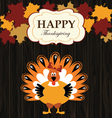 turkey with maples vector image vector image