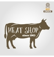Vintage labels logo emblem templates of butchery vector image