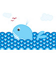 Whale in the ocean vector image