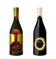 Wine bottles with label