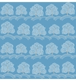 Winter trees seamless pattern vector image