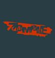 zombie apocalypse lettering vector image