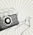 camera in hand vector image