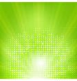 Eco Green Background With Sunburst vector image
