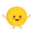 funny smiling cute gold coin vector image