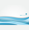 abstract blue wave layer on white background vector image