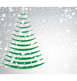 abstract christmas tree on blurred background vector image