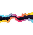 abstract colorful wave layer on white background vector image