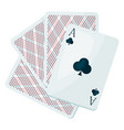 ace club or clover playing cards vector image