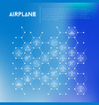 airplane concept in honeycombs vector image vector image