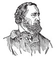 alfred tennyson vintage vector image