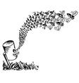 Bee attack vector image vector image