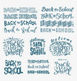 big set of welcome back to school labels vector image
