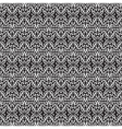 black white seamless floral pattern vector image vector image