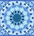 blue seamless kaleidoscope pattern background vector image vector image