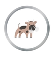 Bull cartoon icon for web and mobile vector image vector image