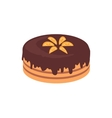 Cake Chocolate Isolated Design Flat vector image vector image