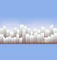 city skyline urban landscape daytime cityscape vector image