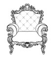 classic imperial baroque armchair with luxurious vector image vector image