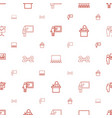 classroom icons pattern seamless white background vector image vector image