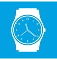 Clock white icon vector image