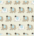 cute elephants seamless pattern vector image vector image