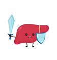 cute strong happy smiling healthy liver vector image vector image