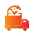 Delivery sign Orange applique vector image vector image
