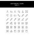 editorial outline icon set vol1 vector image vector image