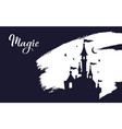 fairy tale castle silhouette wizard world vector image