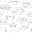 female lips set on sweet passion pattern vector image