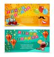 festa junina horizontal banners vector image