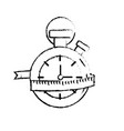 figure chronometer with measuring to practice vector image