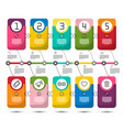 five steps infographic design with colorful paper vector image vector image