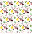 garden tools pattern vector image vector image