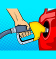 gasoline filling comic book style vector image
