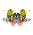 hand made abstract tropical exotic mirror vector image