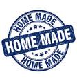 home made blue grunge round vintage rubber stamp vector image vector image