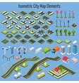 Isometric City Map Elements vector image vector image