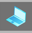 laptop with keyboard screen vector image vector image