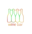 Logo design for bar with bottles vector image vector image