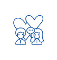 love relationship line icon concept love vector image vector image