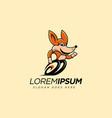 mascot cartoon running coyote logo icon vector image vector image