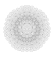 Monochrome mandala for your design vector image vector image