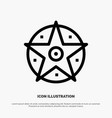 pentacle satanic project star line icon vector image vector image