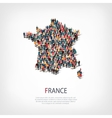people map country France vector image