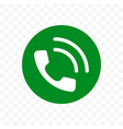 phone call icon receiver in green circle vector image vector image